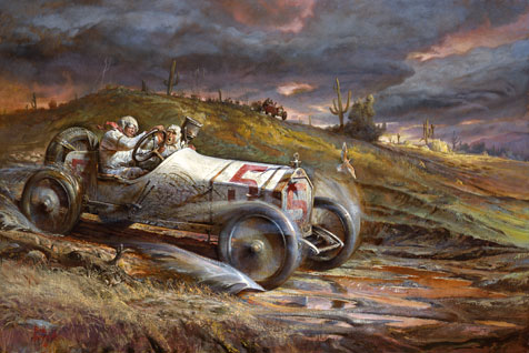 The Cactus Derby L.A. to Phoenix 1914**Barney Oldfield in the Big Stutz